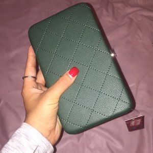 forest green wallet